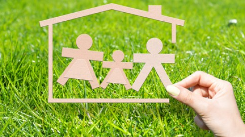 Home insurance to protect your family concept